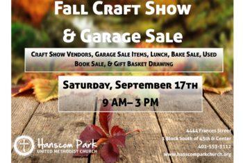 Fall 2016 Craft Show Flyer