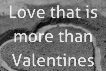 heart with words reading love that is more than valentines