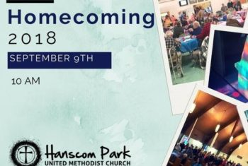 homecoming flyer with collage of people