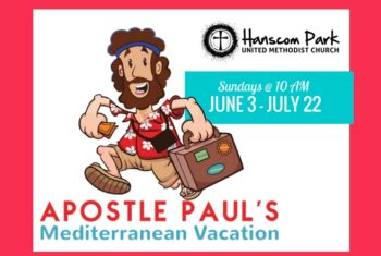 cartoon showing apostle paul going on mediterranean vacation