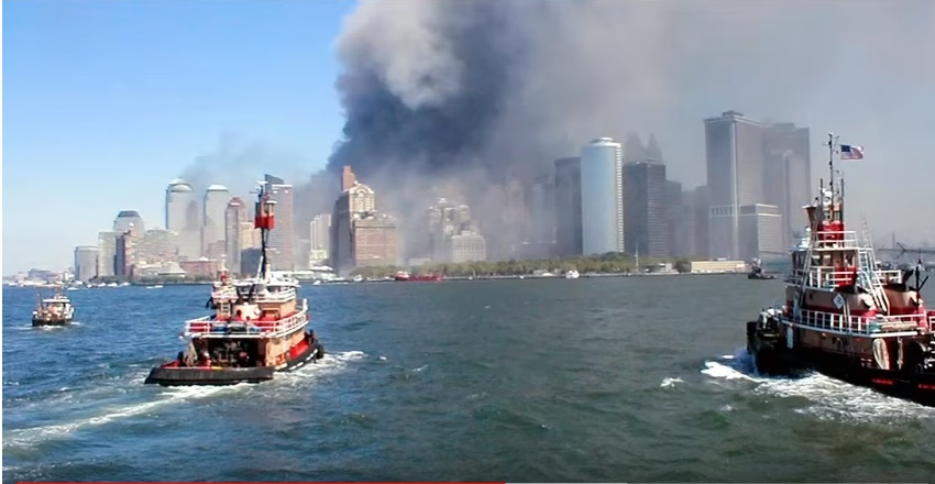 boats rescuing people during 9-11