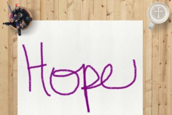 paper with the word hope written on it