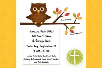 fall craft fair flyer with owl clip art