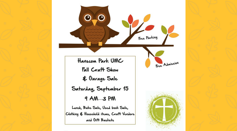 fall craft fair flyer with owl clip art
