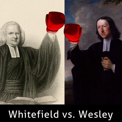 image of whitefield and wesley with boxing gloves