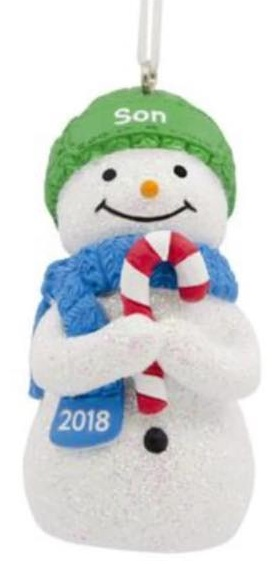 photo of snowman ornament