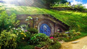image of a hobbit house