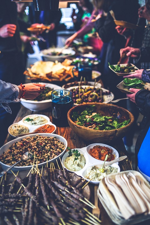 photo of table with food