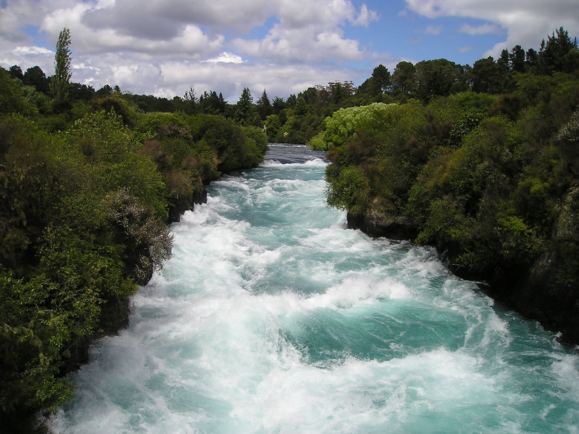 photo of river with rolling water