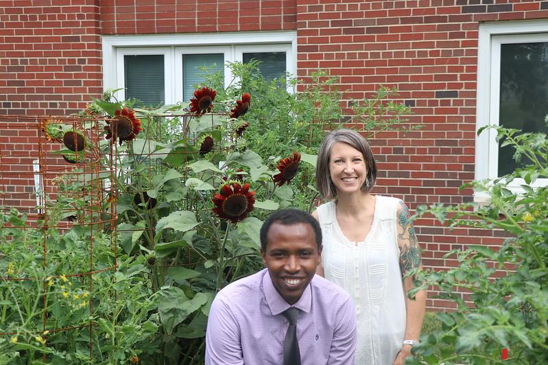 photos of pastors peter and chris in the hanscom garden