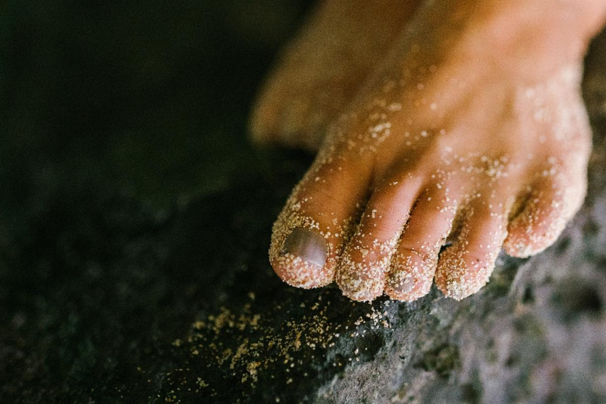 photo of a foot